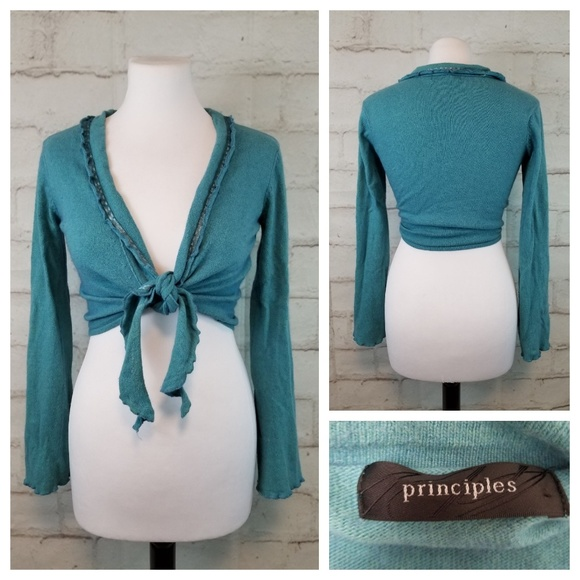 Principles Sweaters - Principles Long Sleeve Tie-Front Shrug Sweater